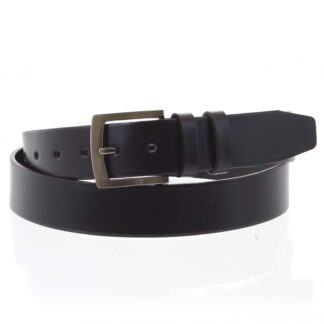 Pánský kožený opasek jeansový černý - PB Stach 95 černá