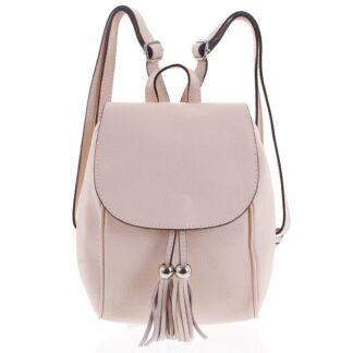 Dámský kožený batůžek světle růžový - ItalY Joseph růžová