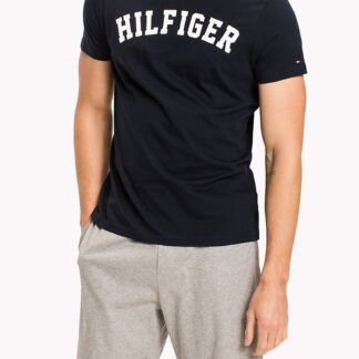 Tommy Hilfiger tmavě modré pánské tričko SS Tee Logo