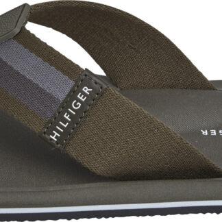 Tommy Hilfiger khaki pánské žabky Sporty Corporate Beach Sandal
