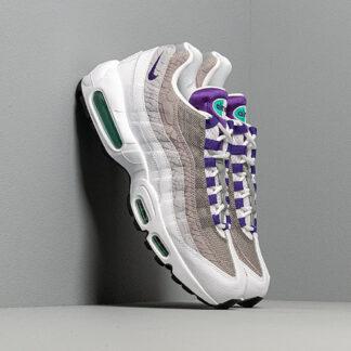 Nike Air Max 95 Lv8 White/ Court Purple-Emerald Green AO2450-101