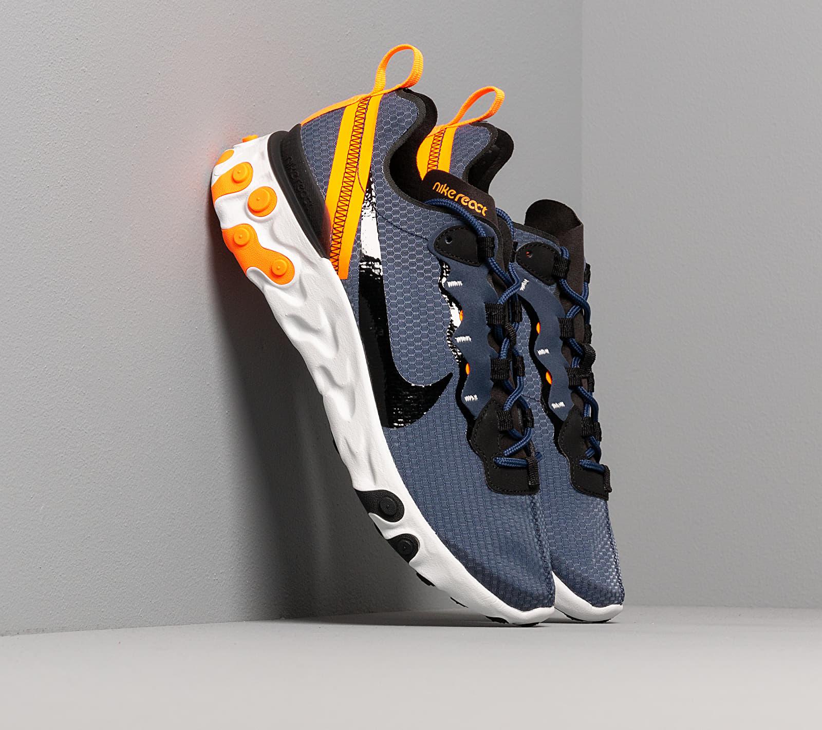 Nike React Element 55 Se Midnight Navy/ Black-Total Orange CI3831-400