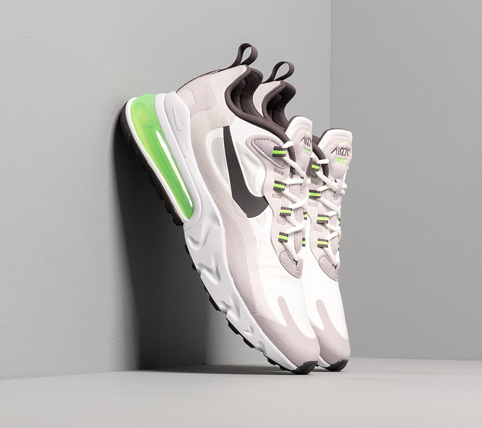 Nike Air Max 270 React Summit White/ Electric Green-Vast Grey CI3866-100