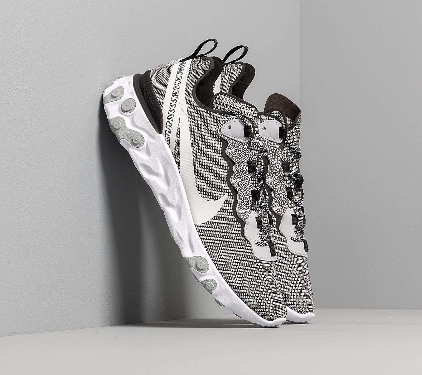 Nike React Element 55 Se White/ Pure Platinum-Wolf Grey-Black CD2153-100