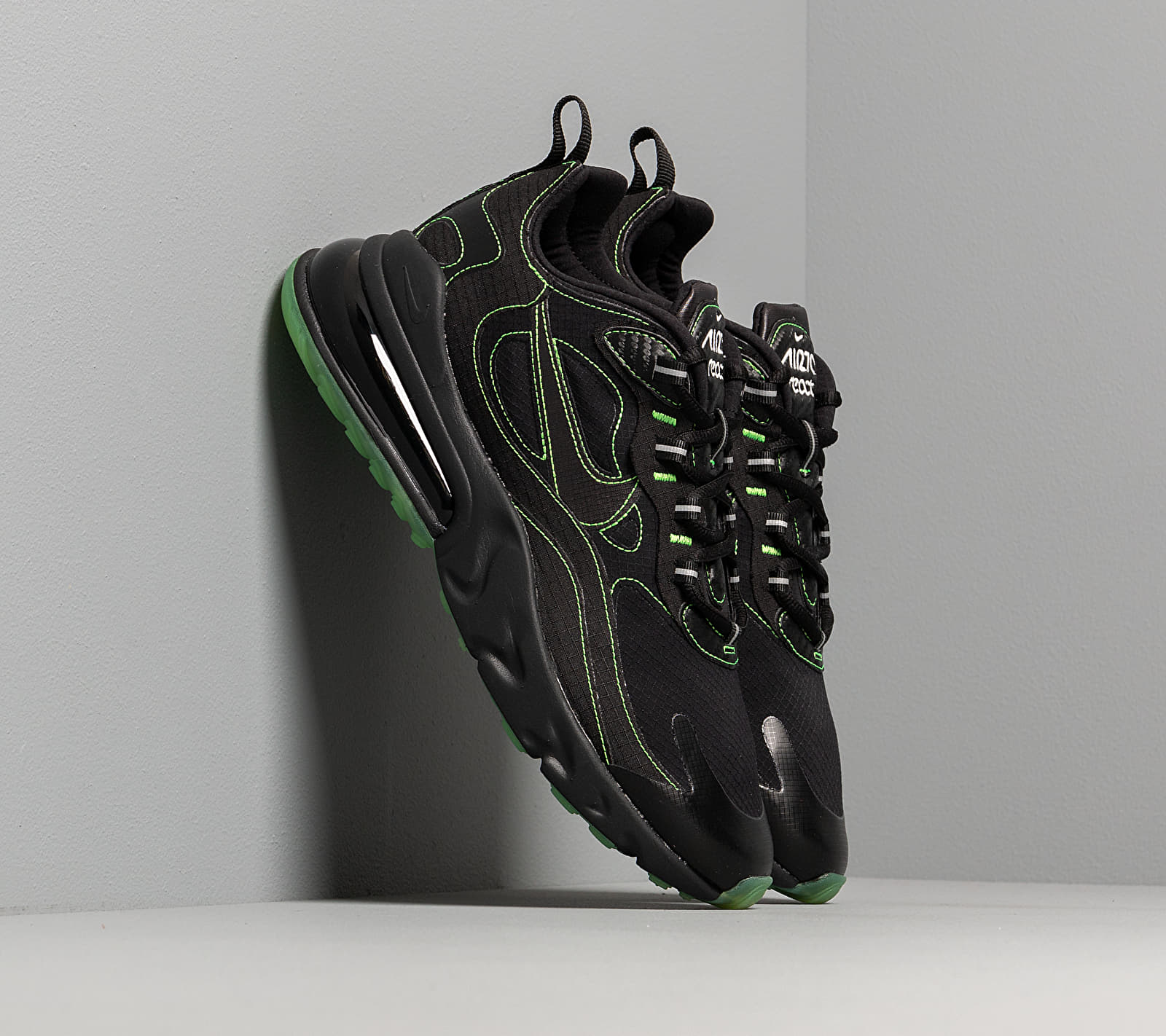 Nike Air Max 270 React Sp Black/ Black-Electric Green CQ6549-001