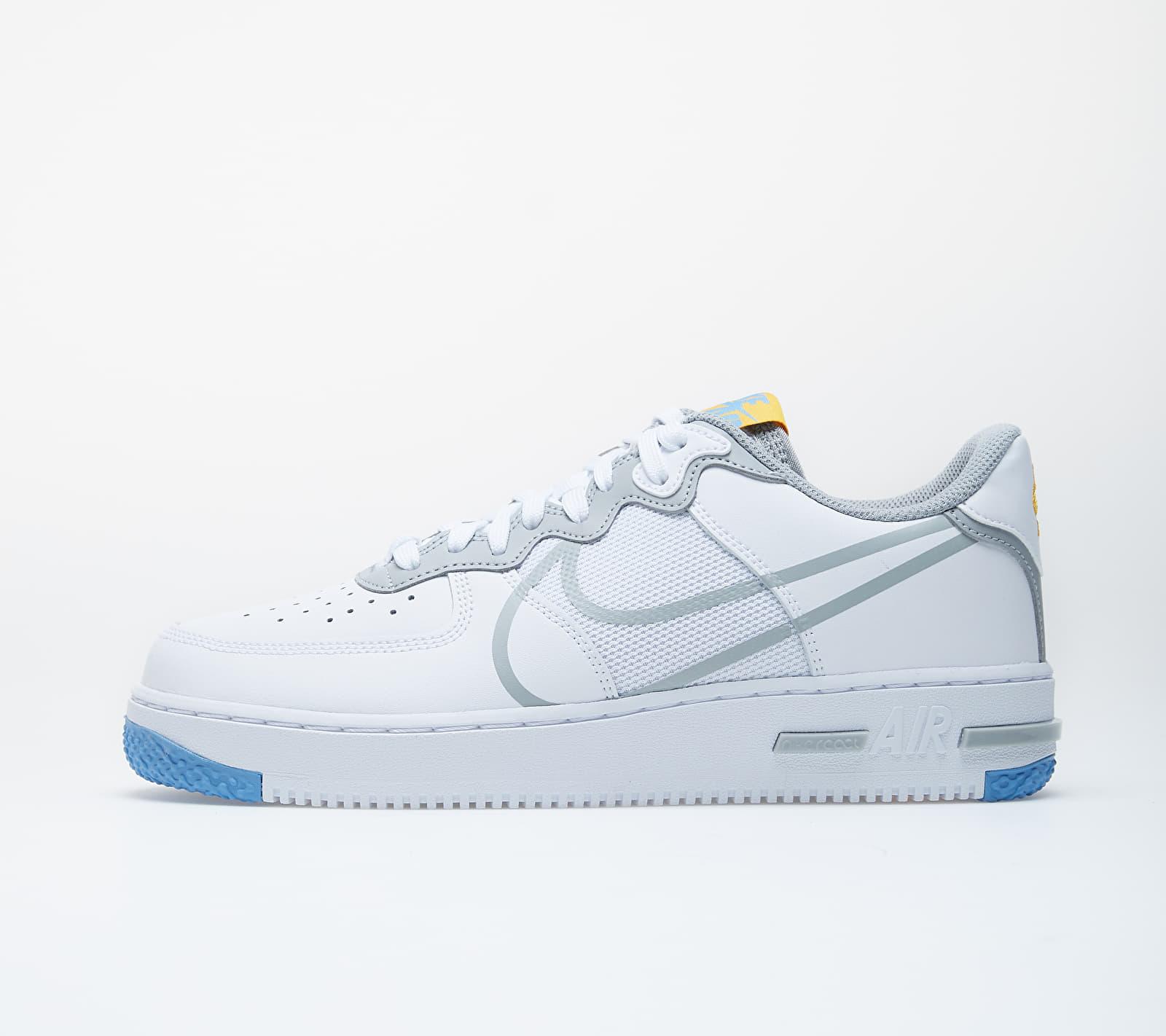 Nike Air Force 1 React White/ Lt Smoke Grey-University Gold CT1020-100