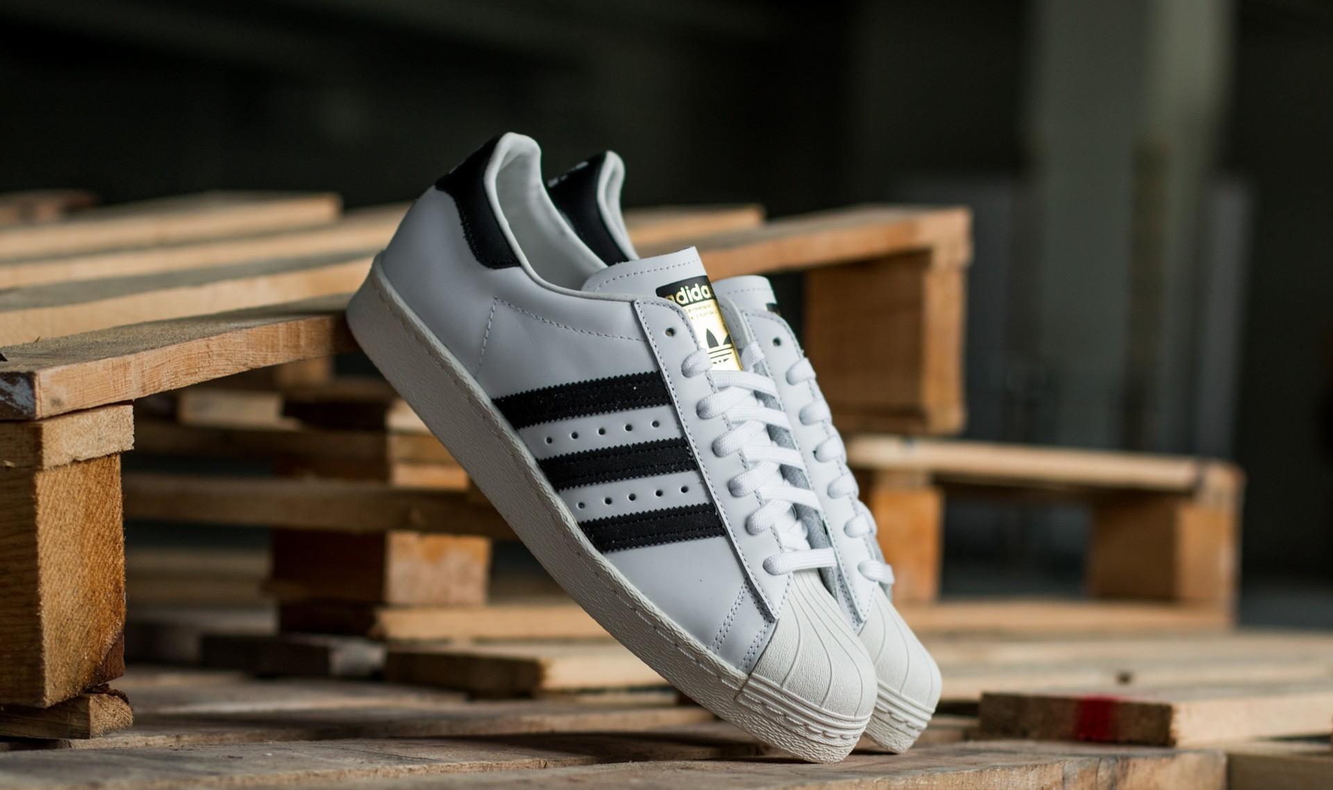 adidas Superstar 80s White/Black1/Chalk2 G61070