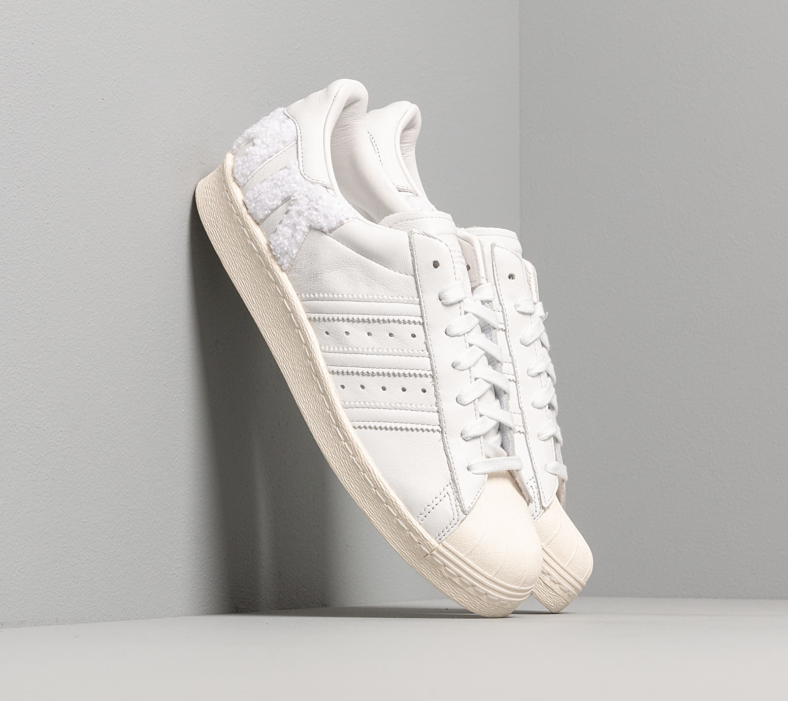 adidas Superstar 80s Crystal White/ Crystal White/ Off White B37995