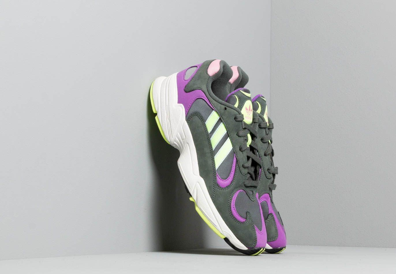 adidas Yung-1 Legend Ivy/ Hi-Res Yellow/ Active Purple BD7655