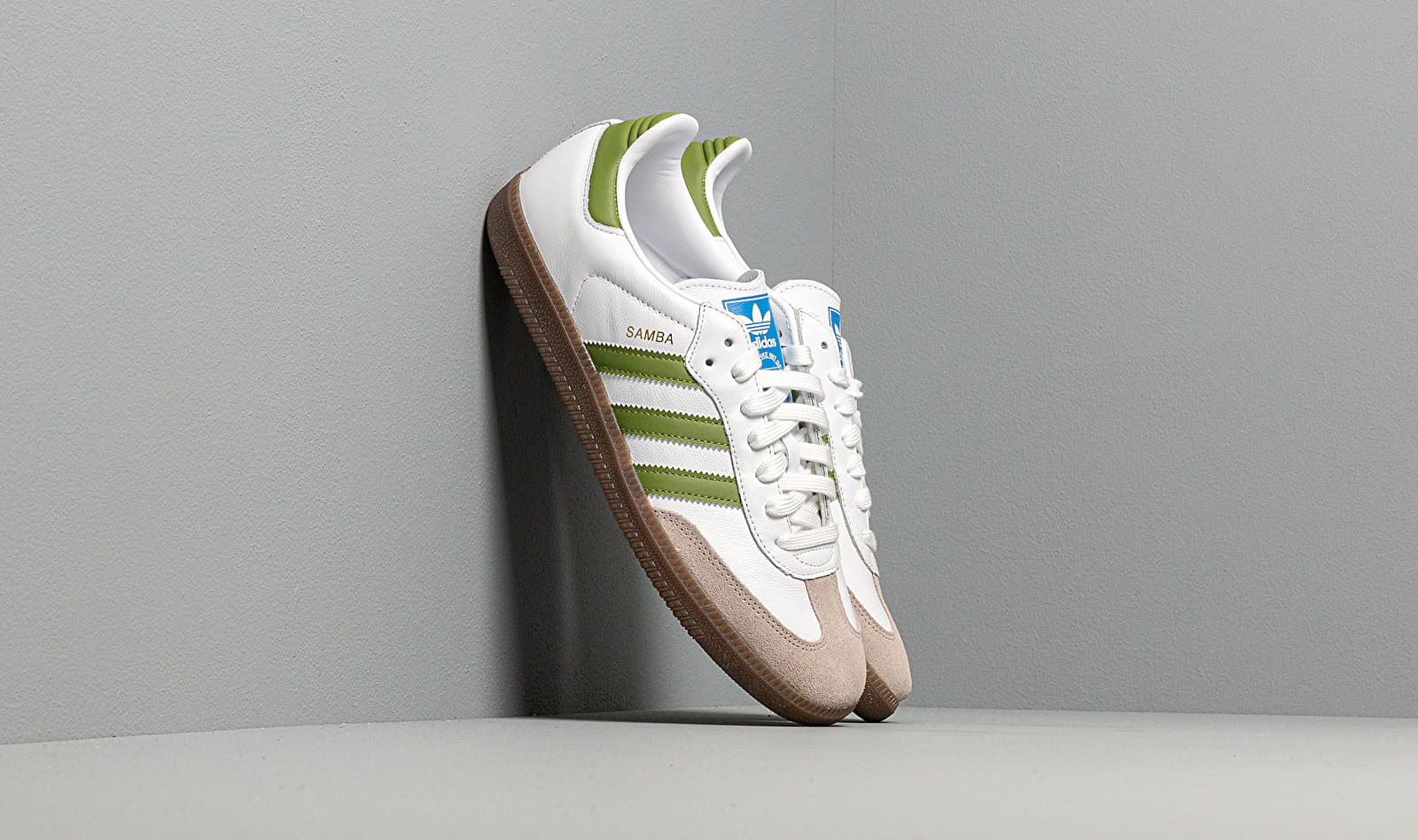adidas Samba OG Ftw White/ Tech Olive/ Light Brown EE7055