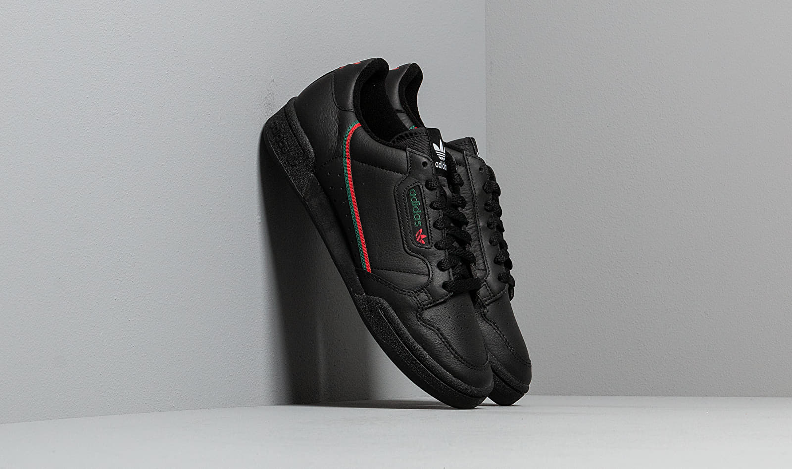adidas Continental 80 Core Black/ Scarlet/ Core Green EE5343