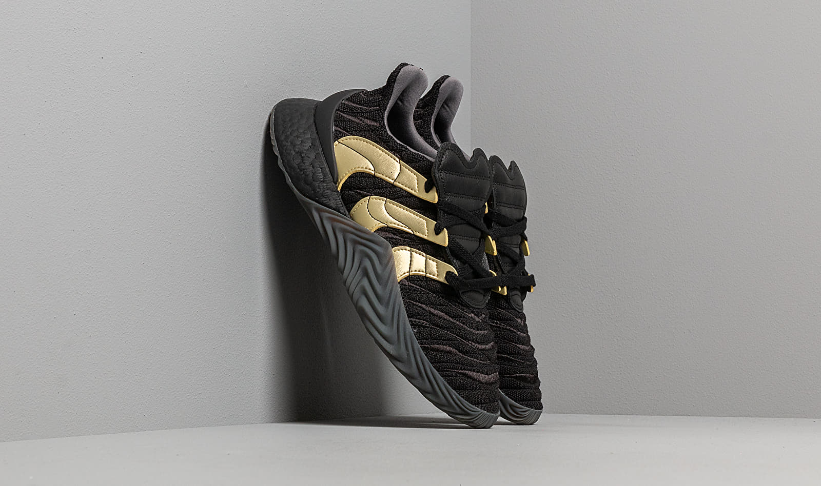 adidas Sobakov Boost Core Black/ Gold Metallic/ Carbon D98155