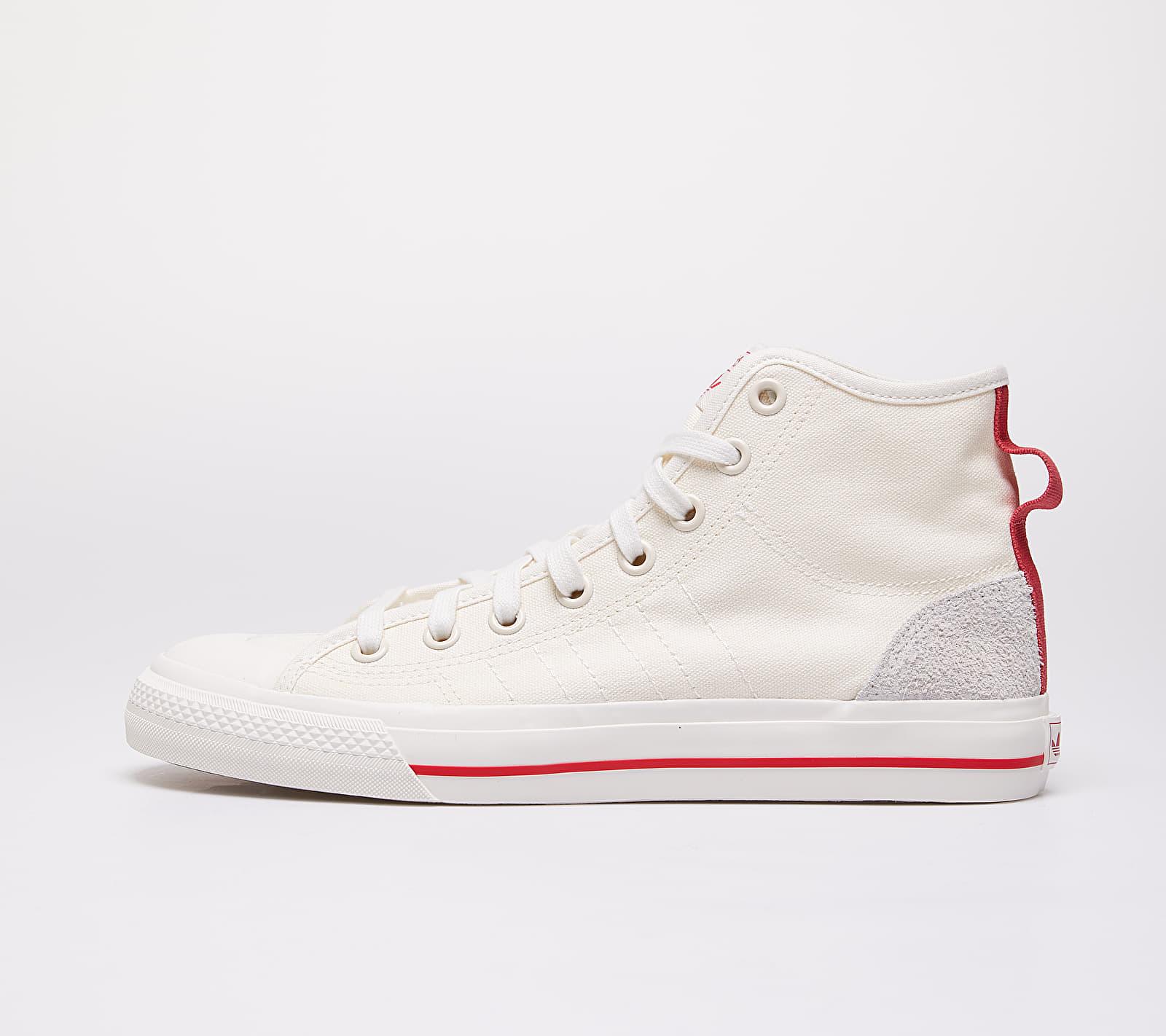 adidas Nizza Hi Rf Off White/ Glow Red/ Gum44 EF5757
