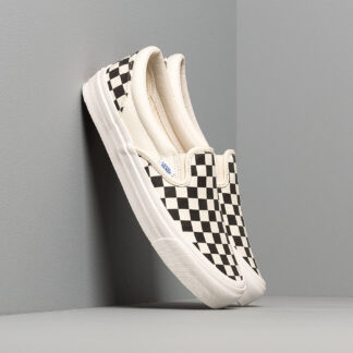 Vans OG Classic Slip-On LX (Canvas) Black/ White Checkerboard VN000UDFF8L1
