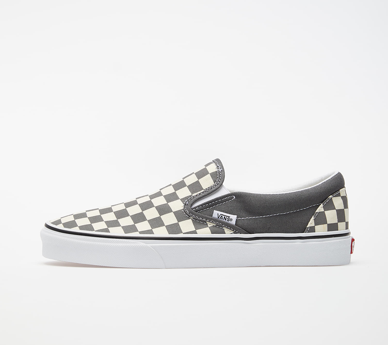 Vans Classic Slip-On (Checkerboard) Pewter/ True White VN0A4BV3TB51