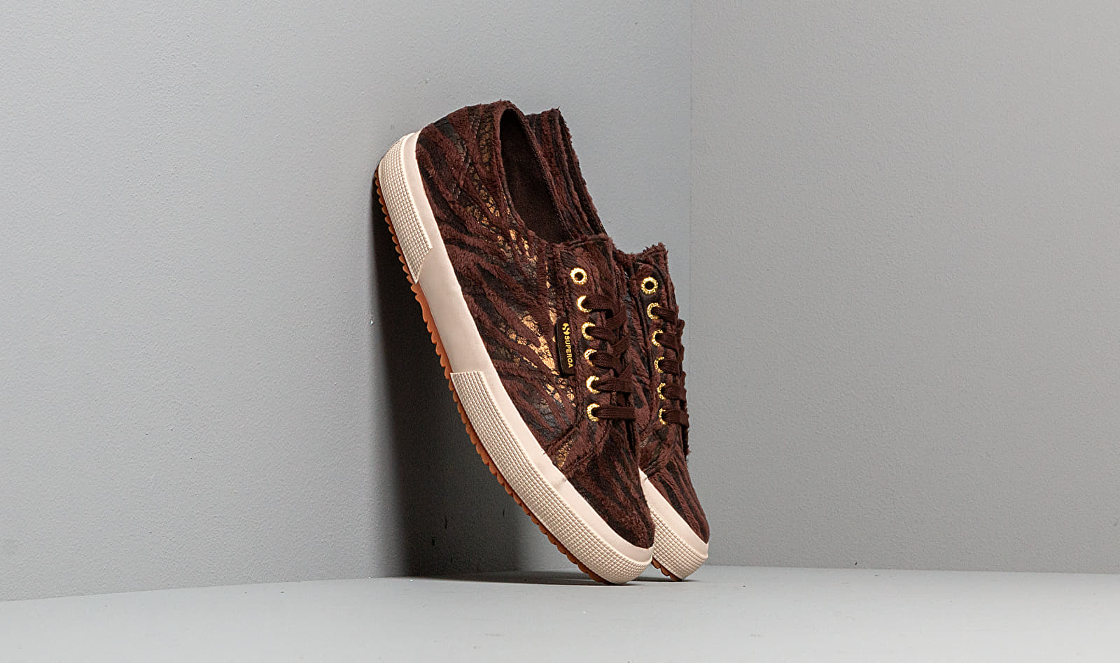 Superga 2750 Fabric Synthetic Zebra W Brown-Bronze S00BEG0 928