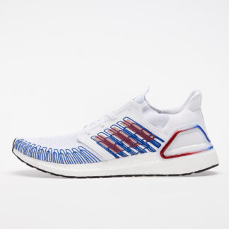 adidas UltraBOOST 20 Ftw White/ Scarlet/ Royal Blue EG0712