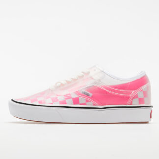 Vans ComfyCush Slip-Skool (Checkerboard) Pink/ True White VN0A4P3EWYI1