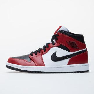 Jordan Air 1 Mid Black/ Black-Gym Red 554724-069