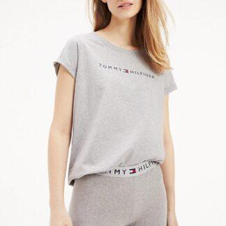 Tommy Hilfiger šedé tričko RN Tee SS Logo