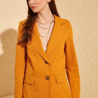Trendyol oranžové dámské sako
