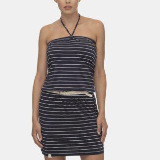 Ragwear tmavě modré šaty Chicka s proužky