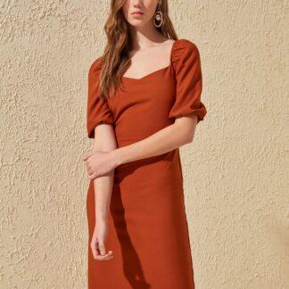 Trendyol oranžové letní šaty