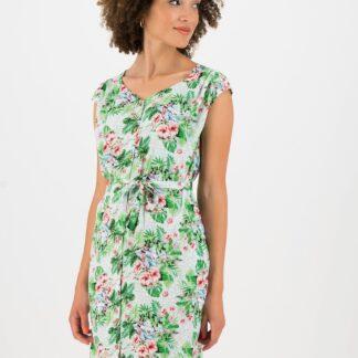 Blutsgeschwister zelené letní šaty se vzory