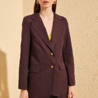 Trendyol fialové dámské sako