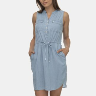 Ragwear světle modré košilové šaty