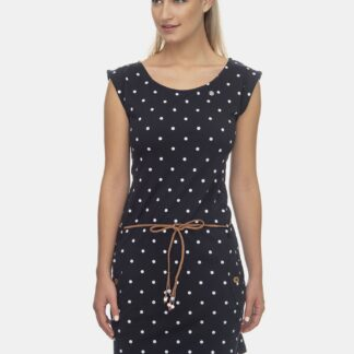Ragwear tmavě modré puntíkované šaty
