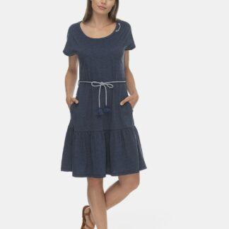 Ragwear modré šaty s volánem