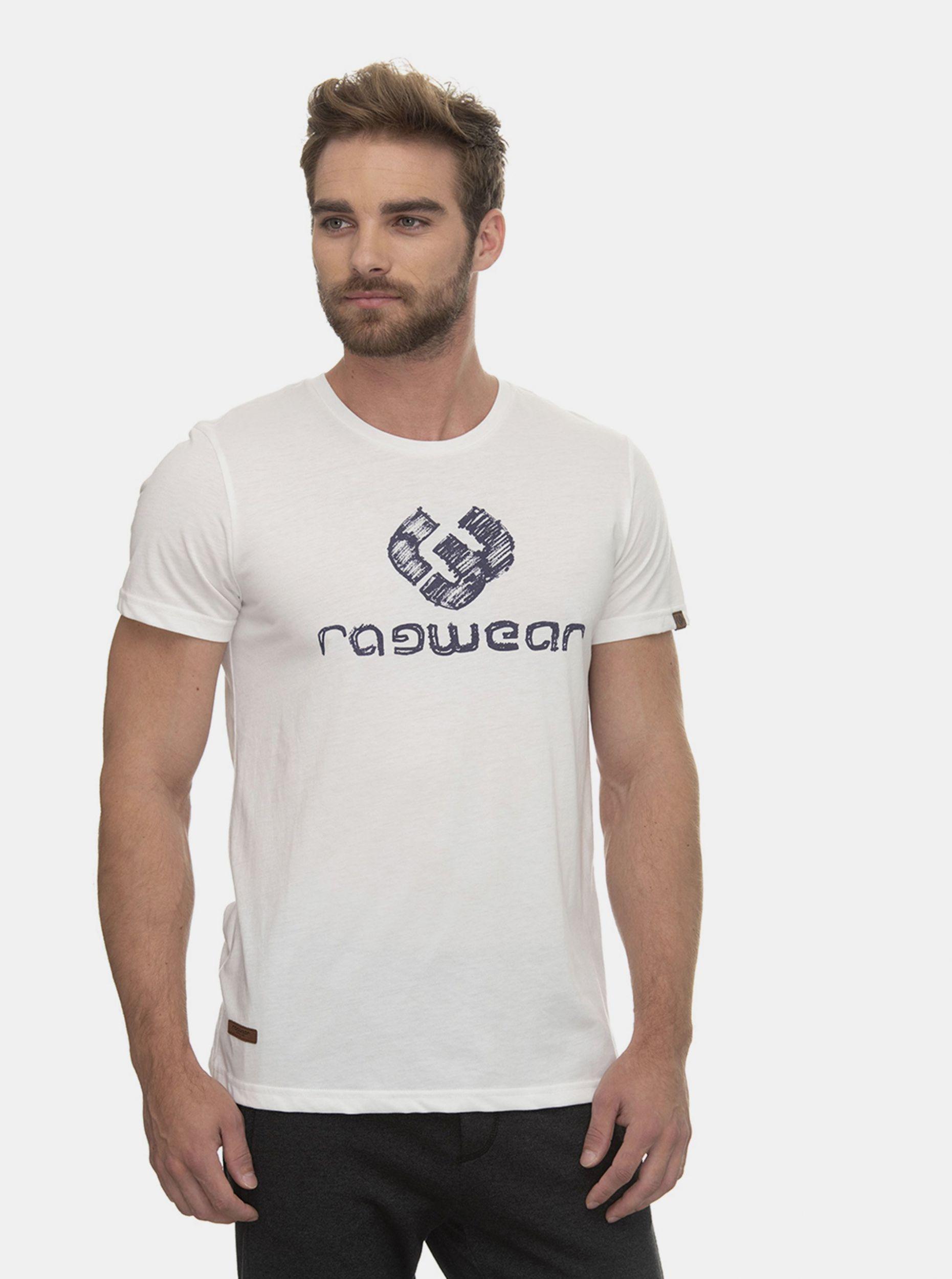 Ragwear bílé pánské tričko Charles s logem
