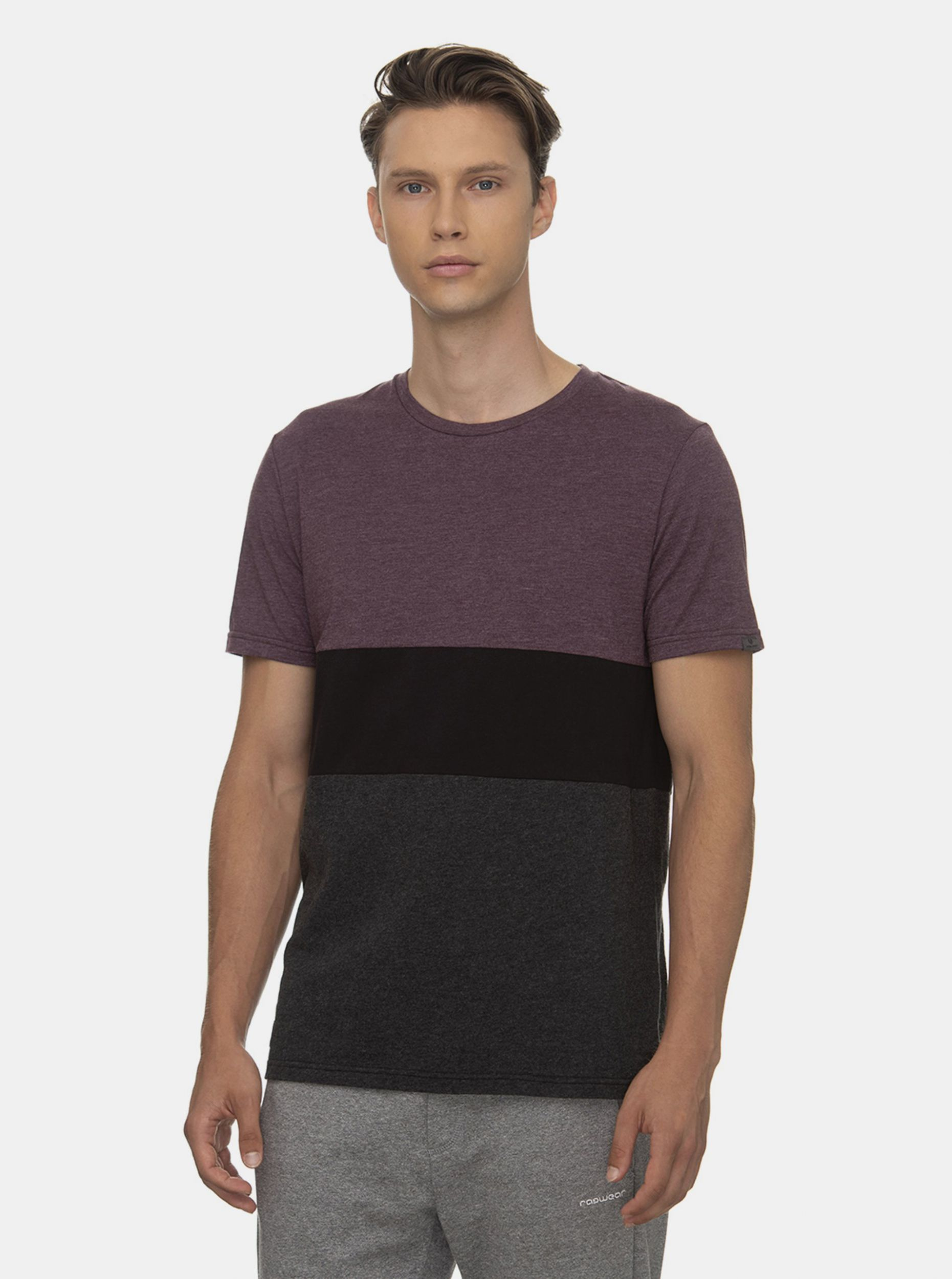 Ragwear fialovo-šedé pánské tričko