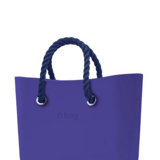 O bag kabelka Iris s tmavě modrými krátkými provazy