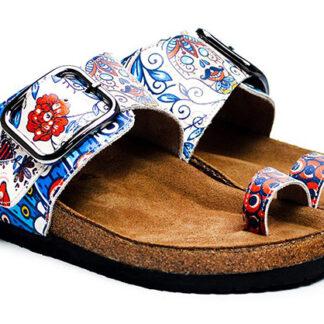 Calceo modré pantofle Thong Sandals Blue Dream