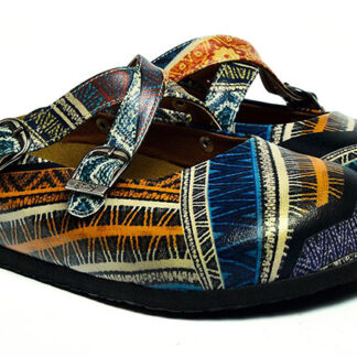 Calceo barevné pantofle Mules Ethnic
