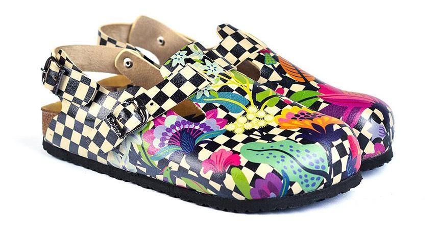 Calceo barevné sandály Classic Sandals Chessboard
