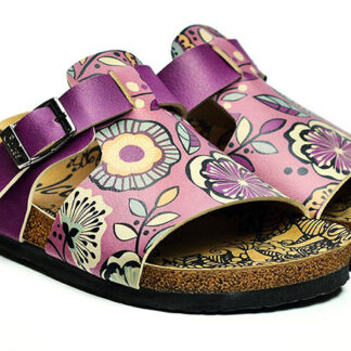 Calceo fialové pantofle Casual Slippers Purple