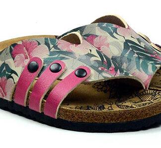 Calceo barevné pantofle Casual Slippers Hibiscus
