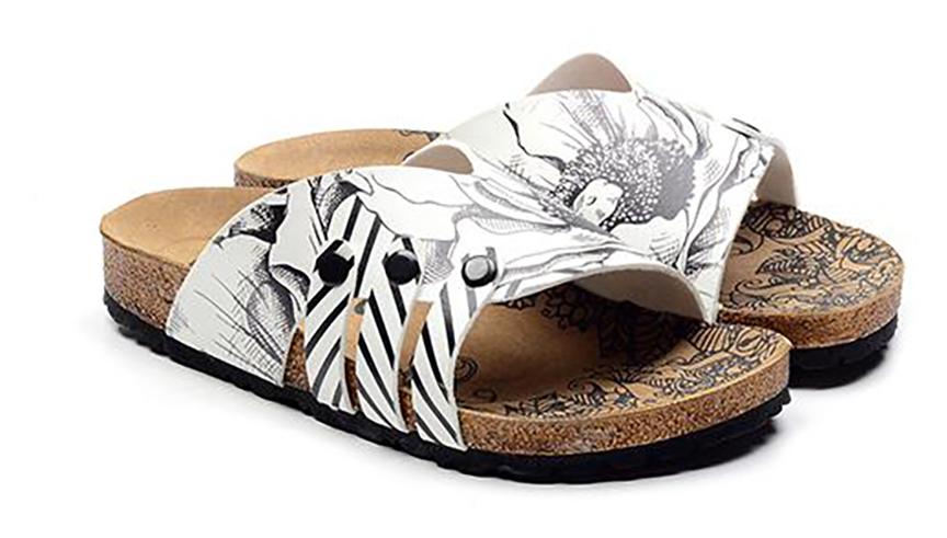 Calceo bílé pantofle Casual Slippers BW