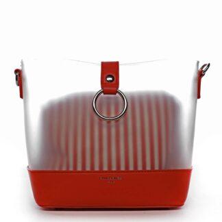 Originální dámská crossbody kabelka červená - David Jones Crazy červená