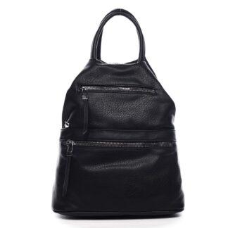Originální dámský batoh kabelka černý - Romina Gempela černá
