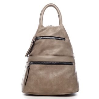 Originální dámský batoh kabelka taupe - Romina Gempela taupe
