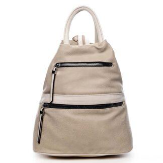 Originální dámský batoh kabelka béžový - Romina Gempela béžová