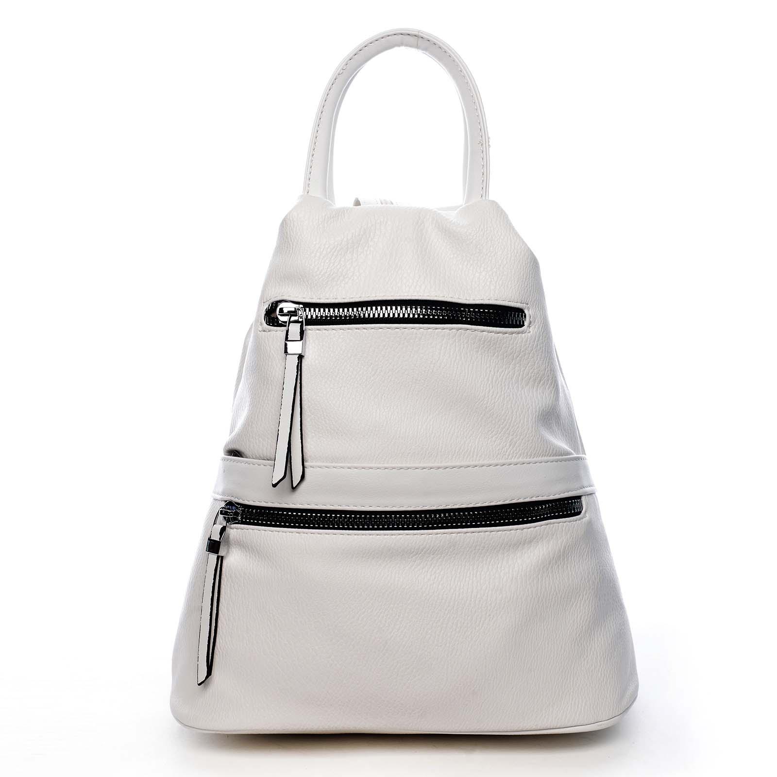 Originální dámský batoh kabelka bílý - Romina Gempela bílá