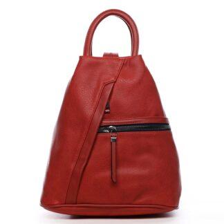 Originální dámský batoh kabelka červený - Romina Imvelaphi červená