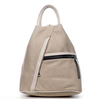 Originální dámský batoh kabelka béžový - Romina Imvelaphi béžová