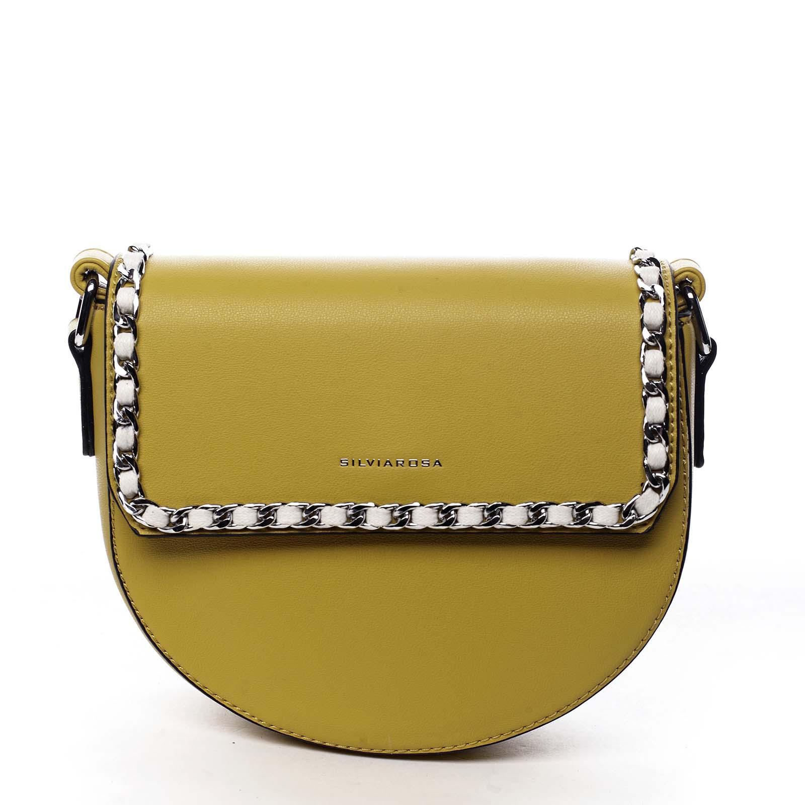 Dámská crossbody kabelka žlutá - Silvia Rosa Timba žlutá