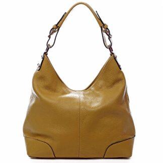 Dámská kožená kabelka žlutá - ItalY Inpelle žlutá